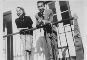 With Sophia de Mello Breyner Andersen, Lisbon, c. 1950