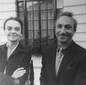 With Sophia de Mello Breyner Andresen, London, early 1970s