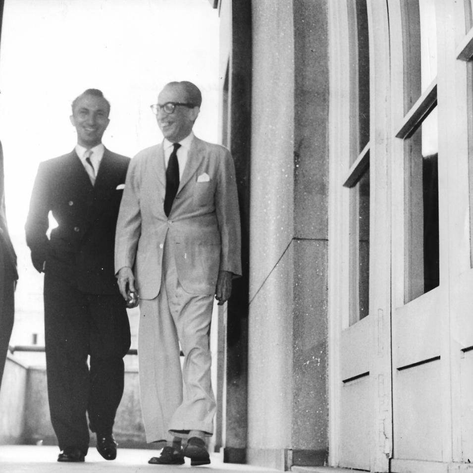 With Manuel Bandeira, Rio de Janeiro, 1959