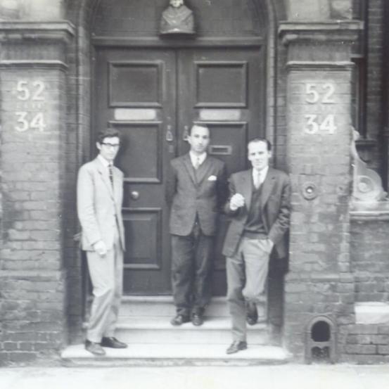 With Luís Amorim de Sousa and Mário Cesariny, London, 1964
