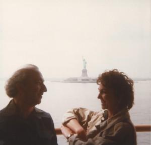 With Paula Rego, NYC, 1983