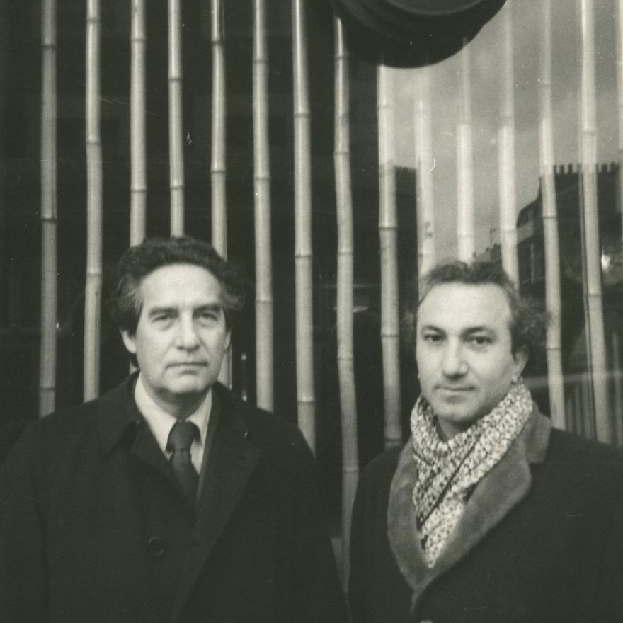 With Octavio Paz, London, 1960s
