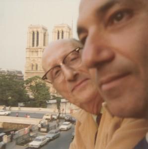 With Jorge Guillén, Paris, 1975