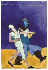Paula Rego (Portugal, 1935) D. José dança às vezes com a Greta Garbo, c. 1975