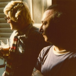 With David Hockney, Paris, 1975