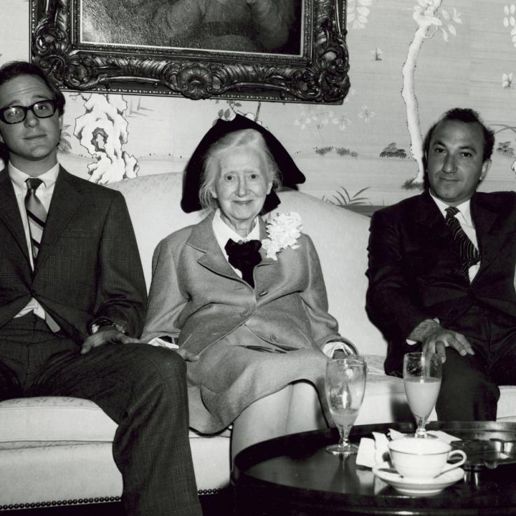 With Marianne Moore and Tim Johns, Austin, 1968