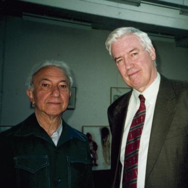 With John McEwen, London, c. 2000