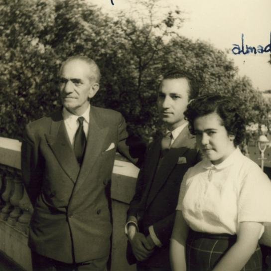 With José and Paula Almada Negreiros, Lisbon, 1962