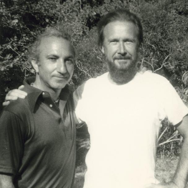 With Christopher Middleton, Austin, c. 1975