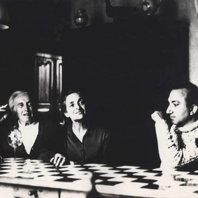 With Arpad Szenes and Vieira da Silva, Yèvre-le-Chatêl, 1978