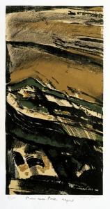 Arpad Szenes (Hungary/France, 1897-1985) Falaise, 1974