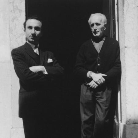 With Arpad Szenes, France, early 1960s