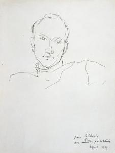 Arpad Szenes (Hungary/France, 1897-1985) Portrait of Alberto de Lacerda, 1964