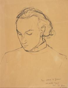 Arpad Szenes (Hungary/France, 1897-1985) Portrait of Alberto de Lacerda, 1971