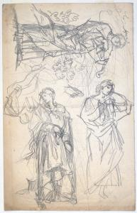 Charles Fairfax Murray (UK, 1849-1919) 3 studies violinist