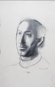 Victor Willing (UK, 1928-1988) Portrait of Alberto de Lacerda, 1975